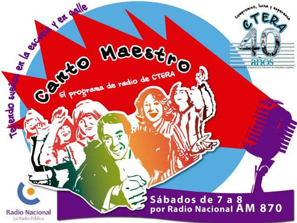 Canto Maestro el programa de radio de CTERA
