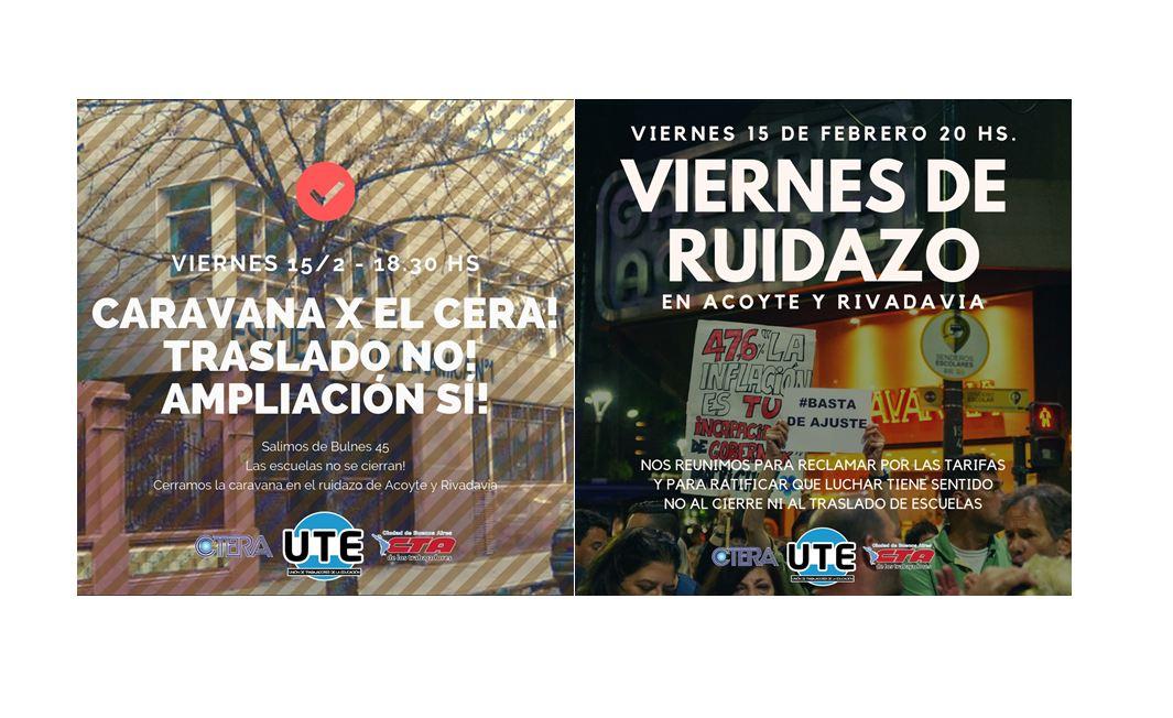 15/02 Caravana por el CERA y Ruidazo en Acoyte y Rivadavia