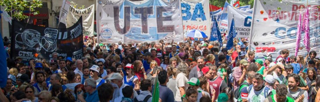 Con unidad en las calles empezamos a parar el ajuste