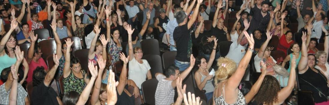Más de 800 delegados aprobaron el mandato de la UTE para el Congreso Nacional de CTERA