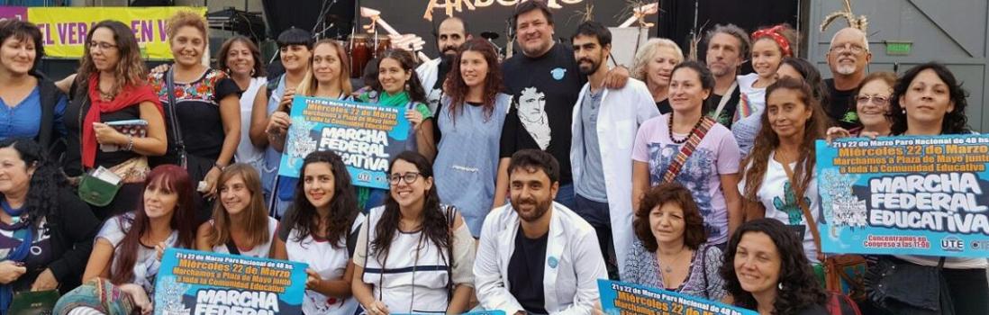 Arbolito se solidarizó con lxs docentes