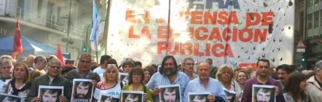 Masivo reclamo de justicia por santiago maldonado
