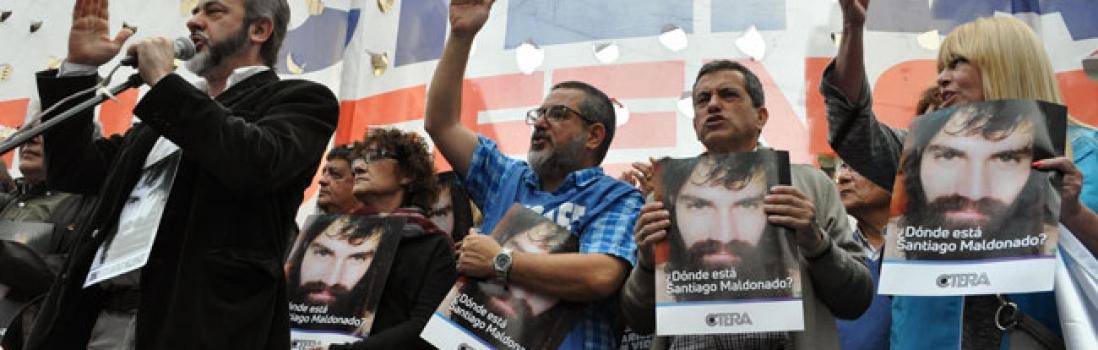 Fueron masivos el paro y la movilización de UTE en el marco de la Jornada Nacional de Protesta de la CTERA