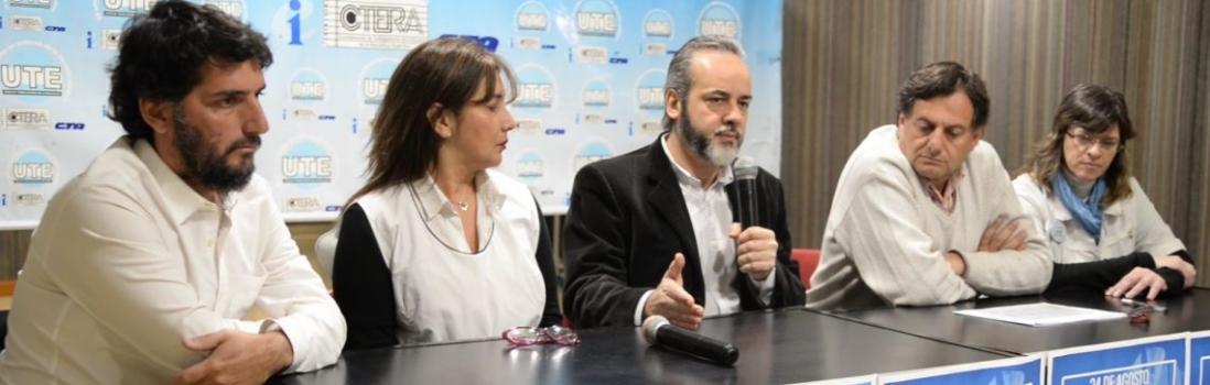Conferencia de Prensa en UTE por Paro Docente en CABA