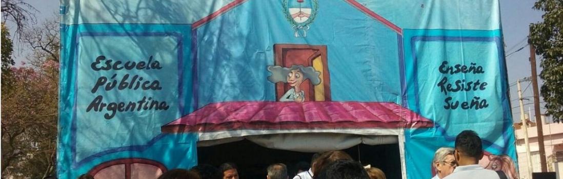 """La """"Escuela Pública Itinerante"""" de CTERA se inauguró en Catamarca"""