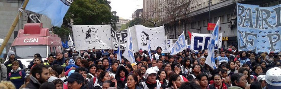UTE acompañó el reclamo por la Emergencia Social en CABA