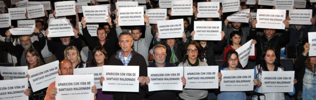 Lxs trabajadorxs de la educación reclaman la aparición con vida de Santiago Maldonado