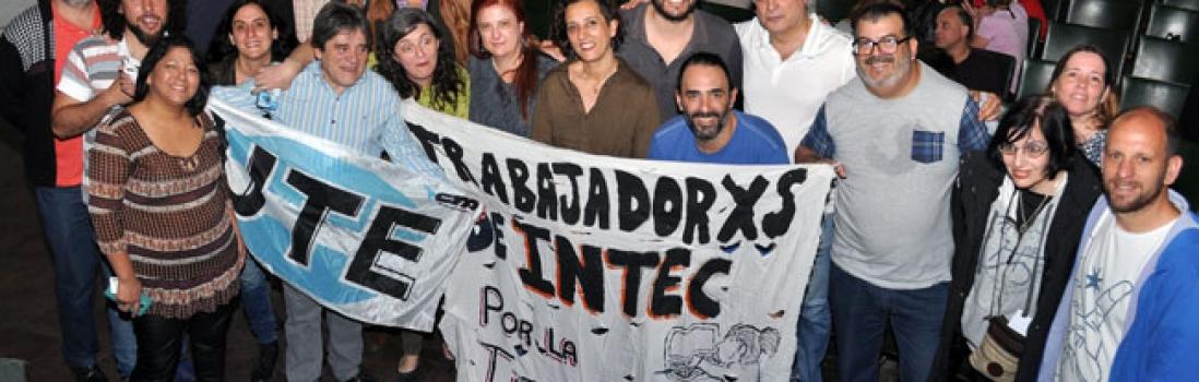 Titularización de lxs trabajadorxs de INTEC