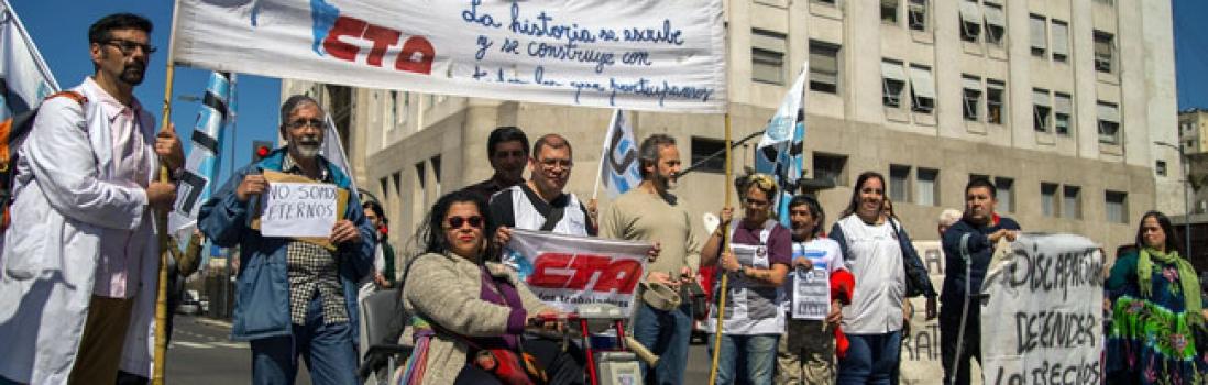 CTA junto a Familias de Personas con Discapacidad reclamaron a Desarrollo Social de Nación que devuelva pensiones recortadas
