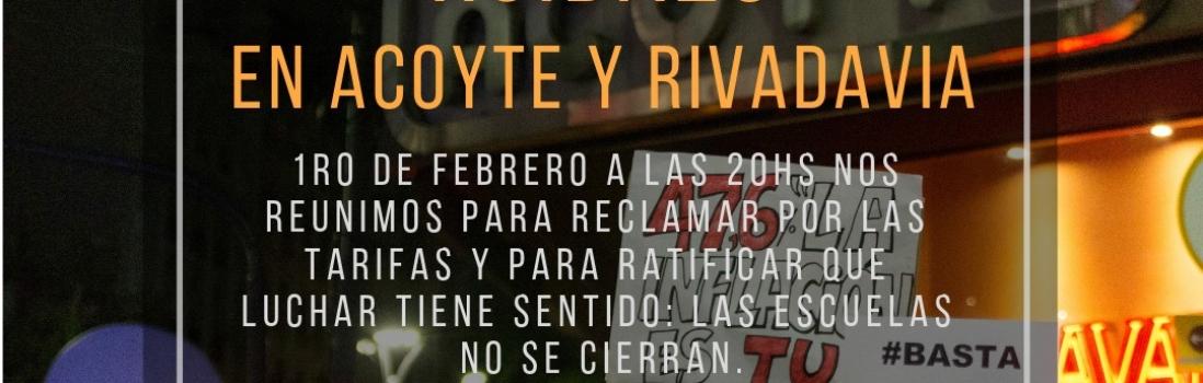HOY 20 hs en Acoyte y Rivadavia: Las y los docentes participamos del Ruidazo