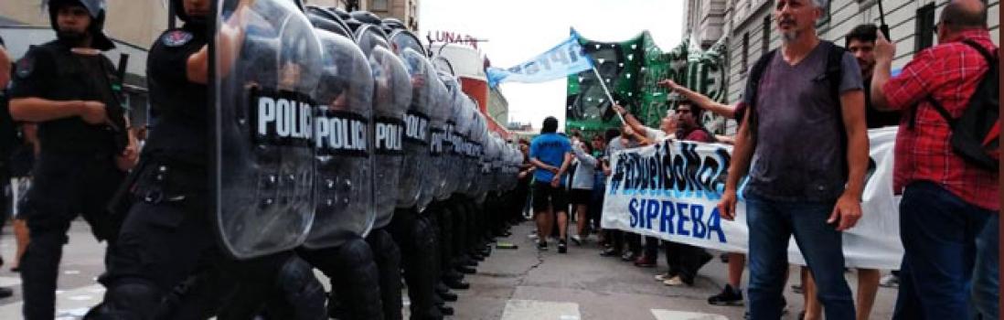 Basta de represión a lxs trabajadorxs