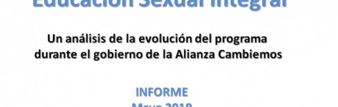"""""""Estado de Situación de los Programas de Salud y de Educación Sexual Integral"""""""