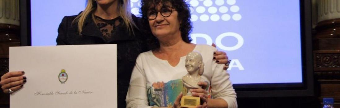 Sonia Alesso fue distinguida por el Senado de la Nación con el premio Evita Compañera