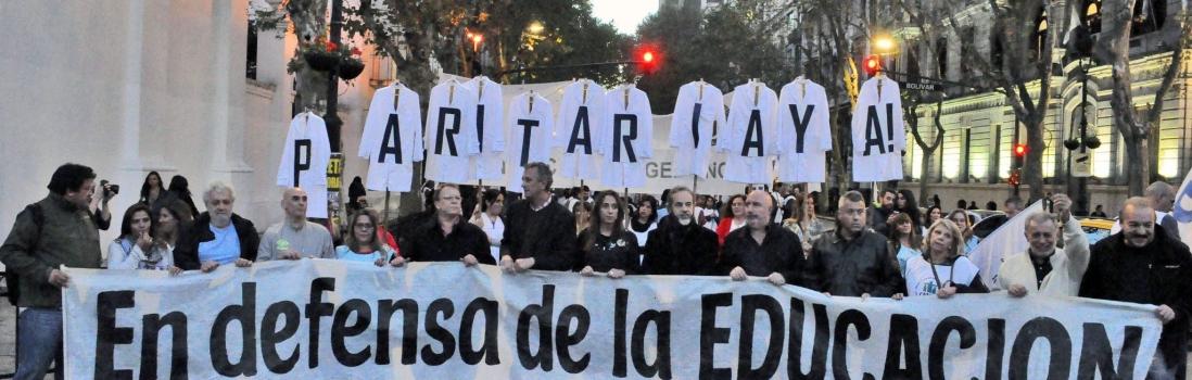 Los sindicatos docentes de la Ciudad marcharon contra el cierre unilateral de la mesa salarial